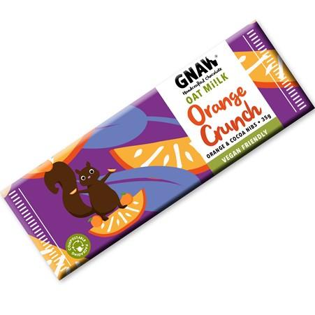 Gnaw - Snack Size Orange Crunch Oat Mylk Chocolate Bar (35g)