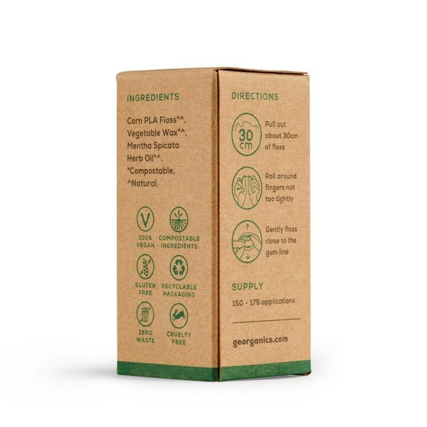 Georganics - Dental Floss Spearmint with Dispenser