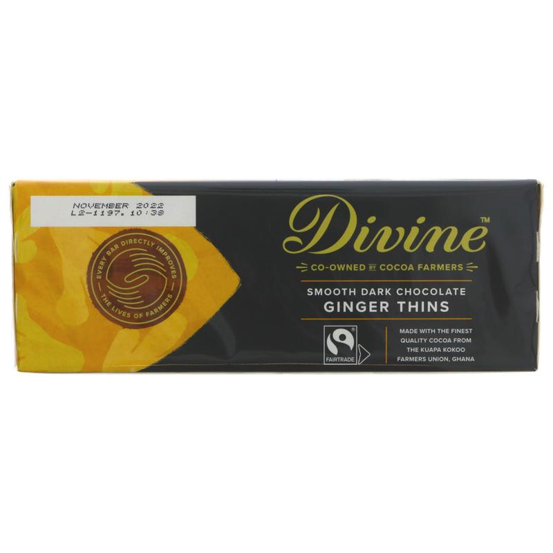 Divine - Dark Chocolate Ginger Thins