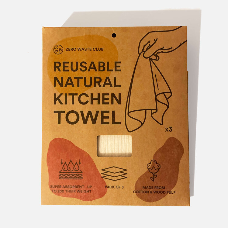 Zero Waste Club - Reusable Kitchen Towel - Pack of 3