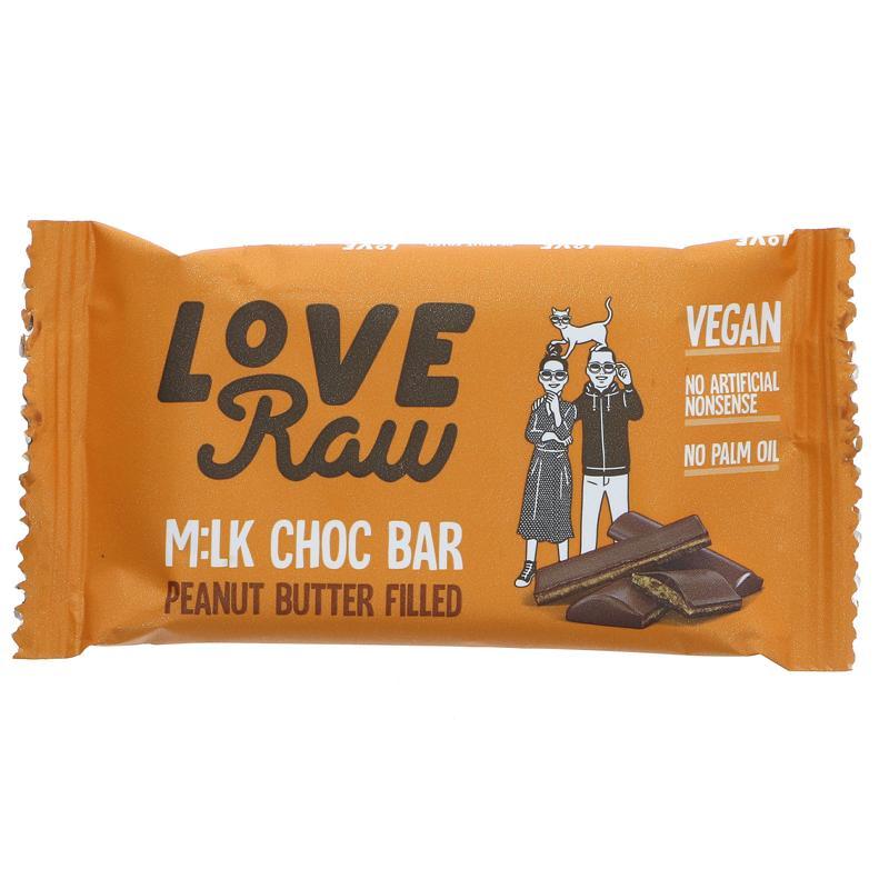 LoveRaw Salted Caramel M:lk Choc Bar