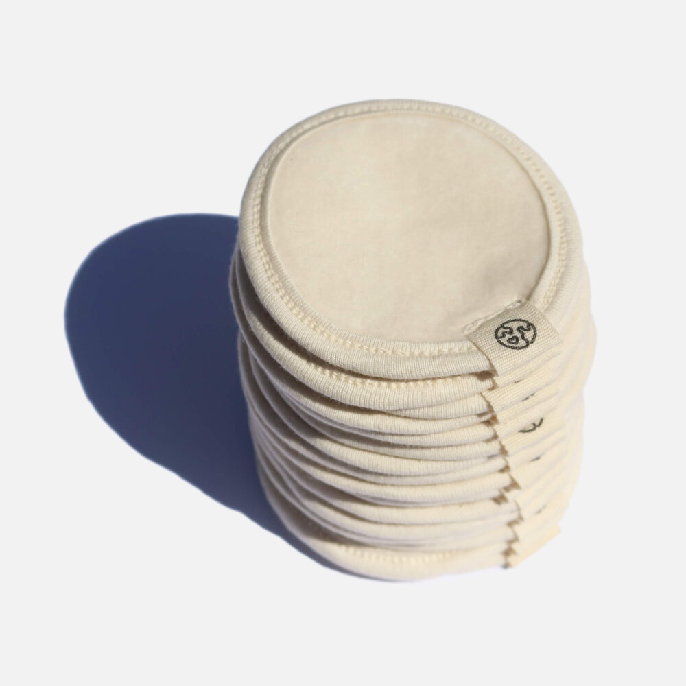Zero Waste Club - Organic Cotton Make Up Remover Pads & Wash Bag - Pack of 16