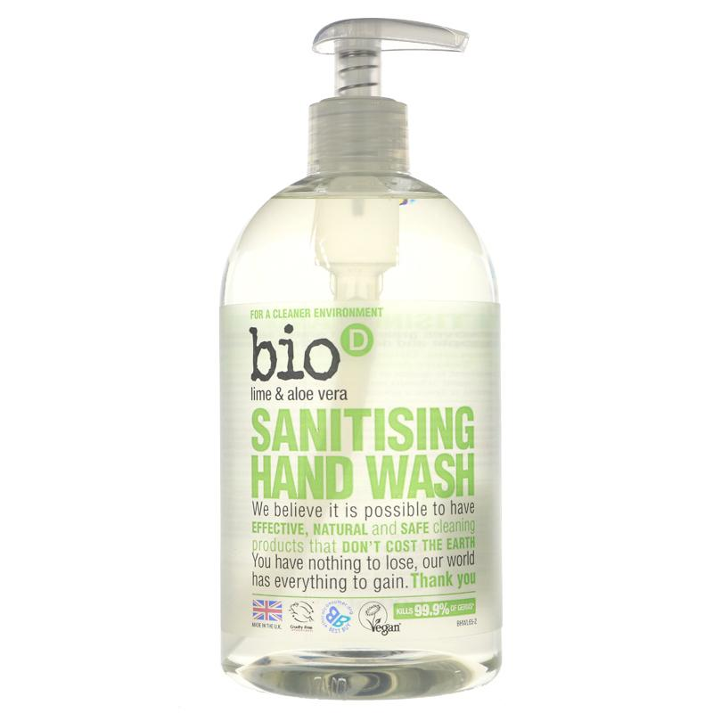 Bio D Santising Handwash - Lime & Aloe