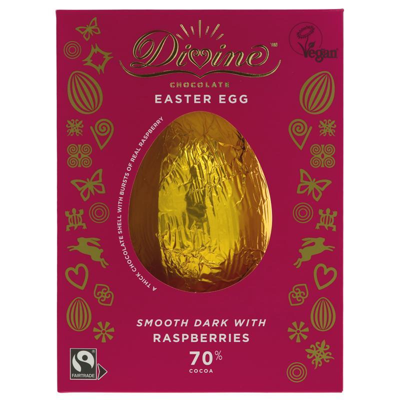 Divine - Dark Chocolate with Raspberries Easter Egg