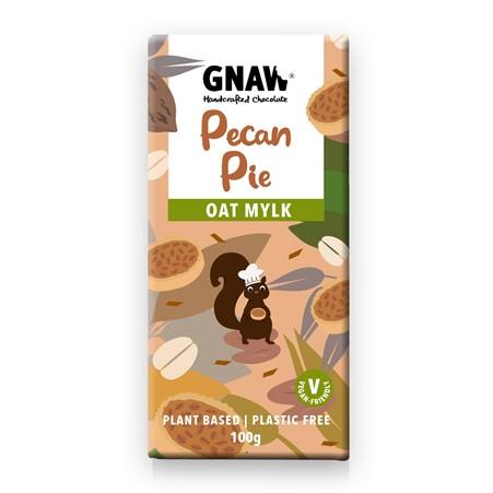 Gnaw - Pecan Pie Oat Mylk Chocolate Bar (100g)