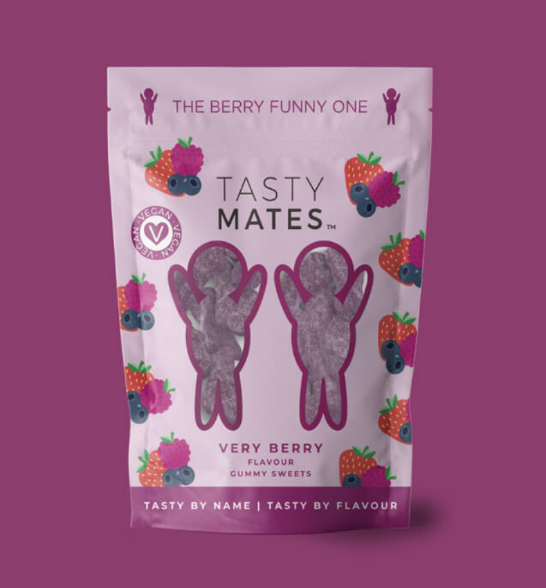 Tasty Mates - Very Berry flavour gummy sweets (54g)