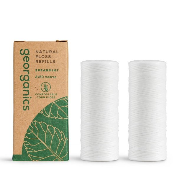 Georganics - Dental Floss Spearmint (2 x 50m refills)
