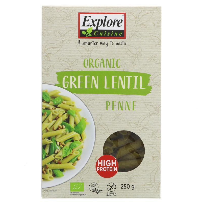 Explore Cuisine Green Lentil Penne