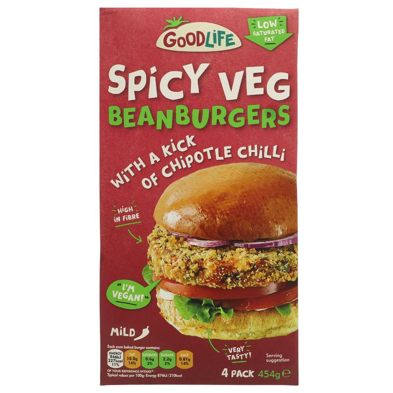 Goodlife - Spicy Veg Bean Burgers ON OFFER (RRP £3.09)