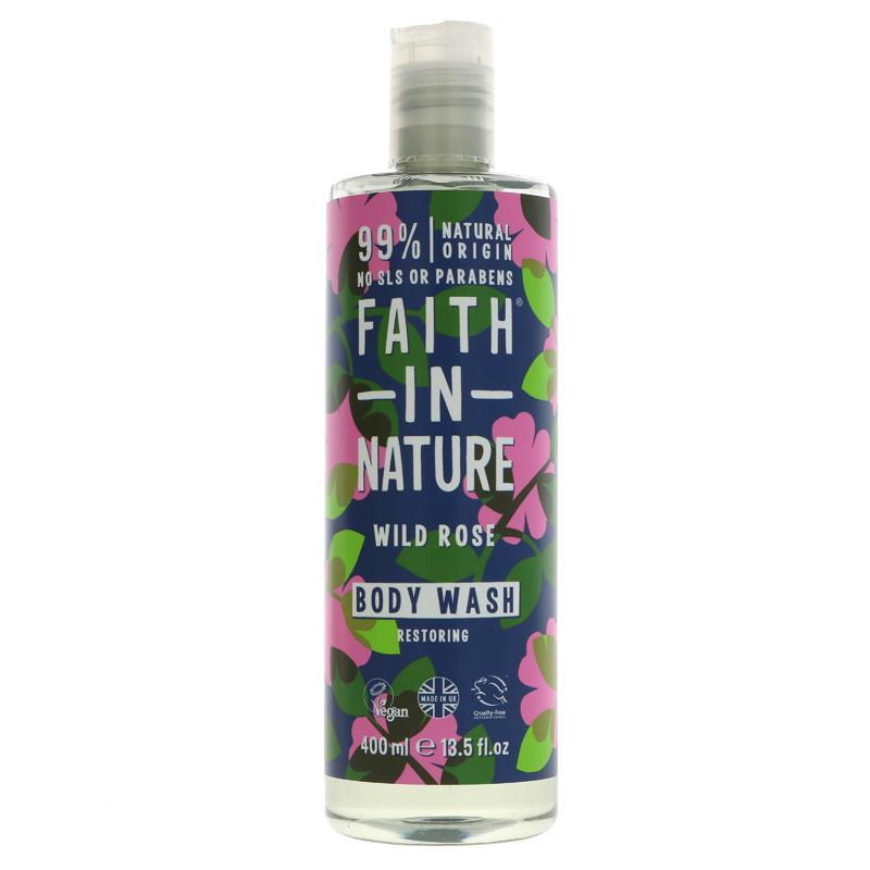 Faith in Nature - Wild Rose Body Wash ON OFFER