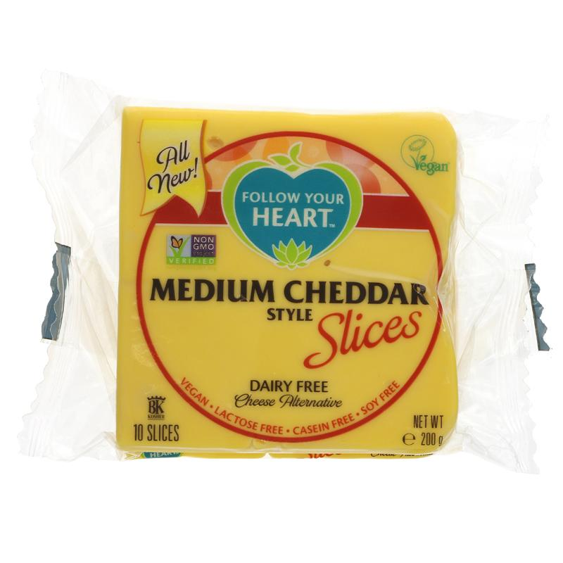Follow Your Heart - Medium Cheddar Slices