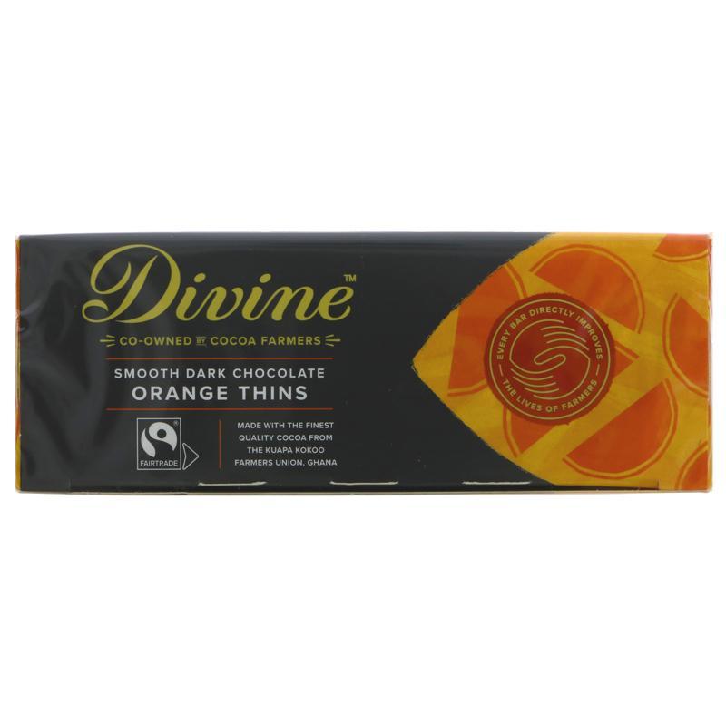 Divine - Dark Chocolate Orange Thins