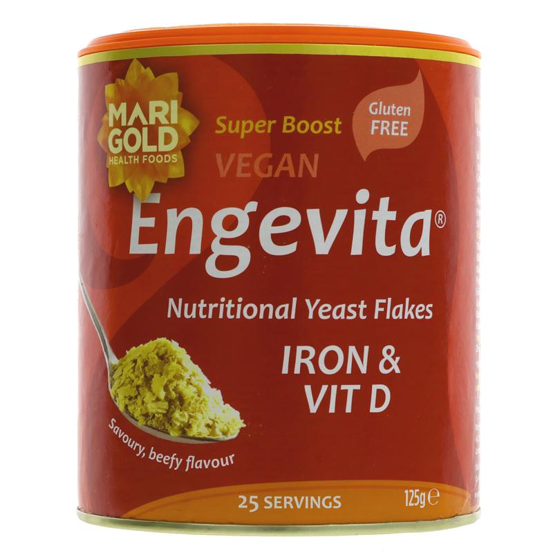 Marigold - Engevita Yeast Flakes (Nooch) with Iron & Vitamin D - Veganuary offer price