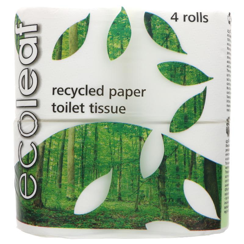 Ecoleaf - Toilet Tissue (4 rolls)