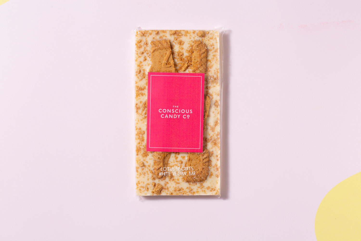 Conscious Candy Co - 'White' Biscoff Chocolate Bar