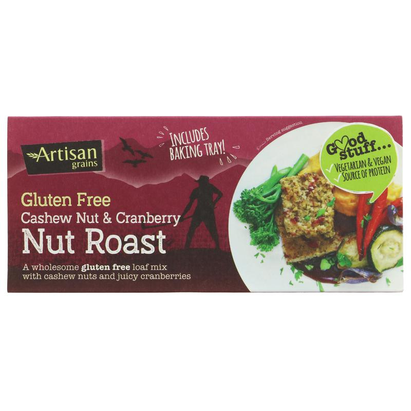 Artisan Grains - Nut Roast - Gluten Free Cashew Nut & Cranberry