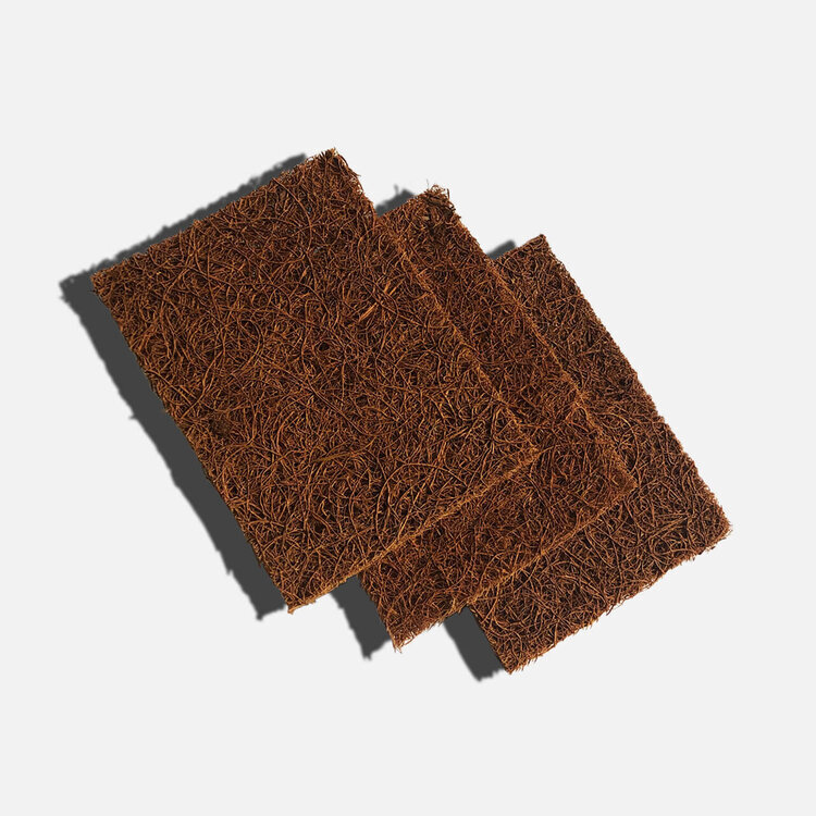 Coconut Dish Scourer - Pack of 3