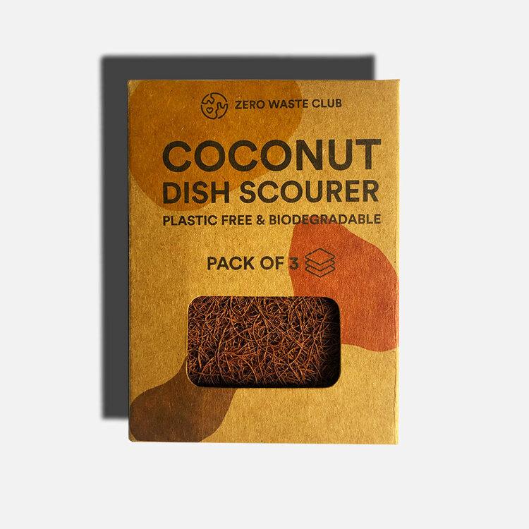 Coconut Dish Scourer - Pack of 3