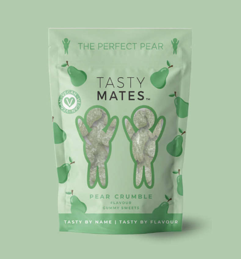 Tasty Mates - Pear Crumble flavour gummy sweets (54g)