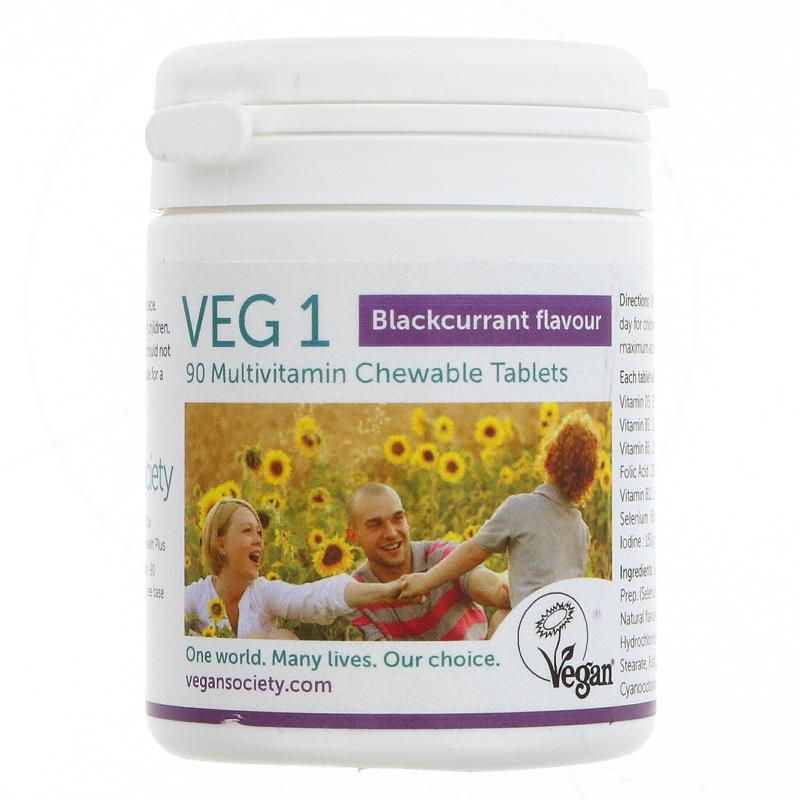 Vegan Society - VEG1 Vitamin Tablets Blackcurrant