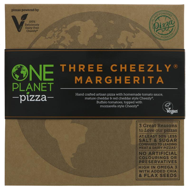 One Planet Pizza - Three Cheezly Margherita