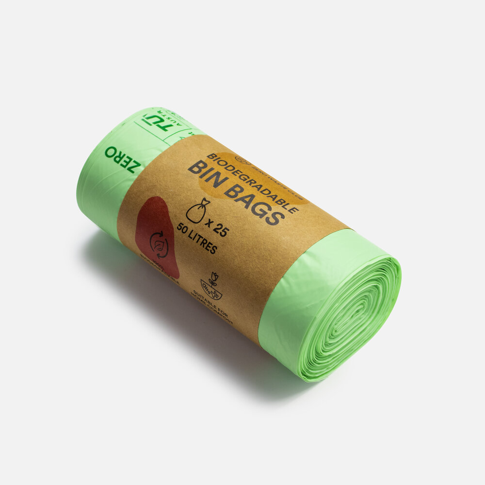 Zero Waste Club - Biodegradable Bin Bags - Pack of 25 - 50 Litre Bags