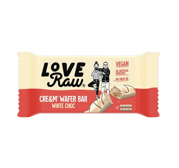 LoveRaw - WHITE Choc Cre&m Wafer Bars