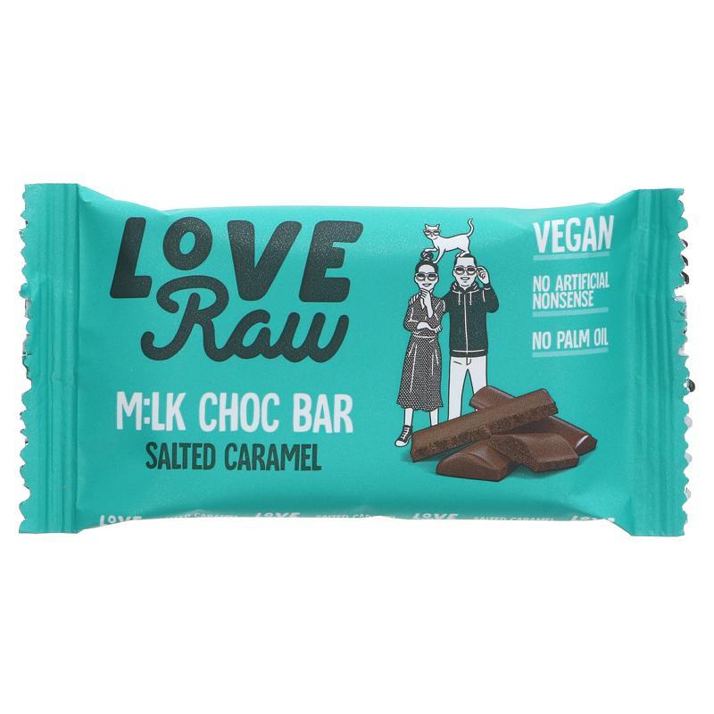 LoveRaw Peanut Butter M:lk Choc Bar