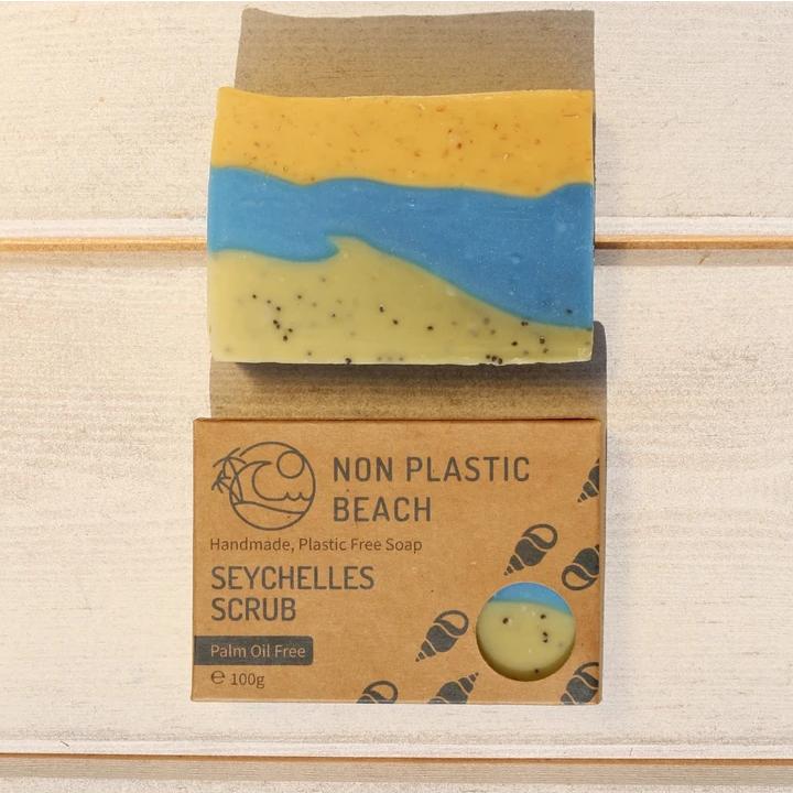 Non Plastic Beach - Handmade Soap 'Seychelles Scrub'