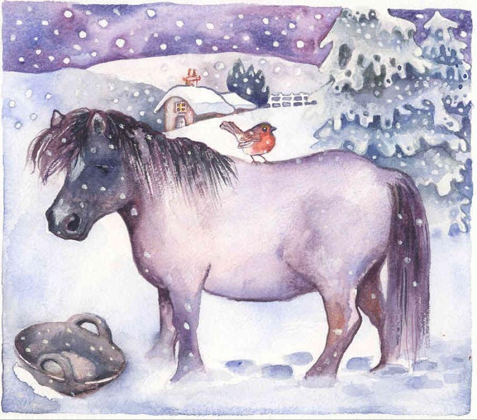 'Pony & Robin' Furzedown Gallery Mini Card