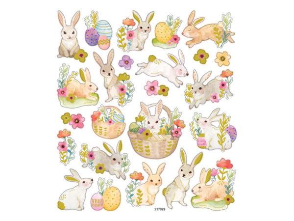 Klistremerker med påskeharer