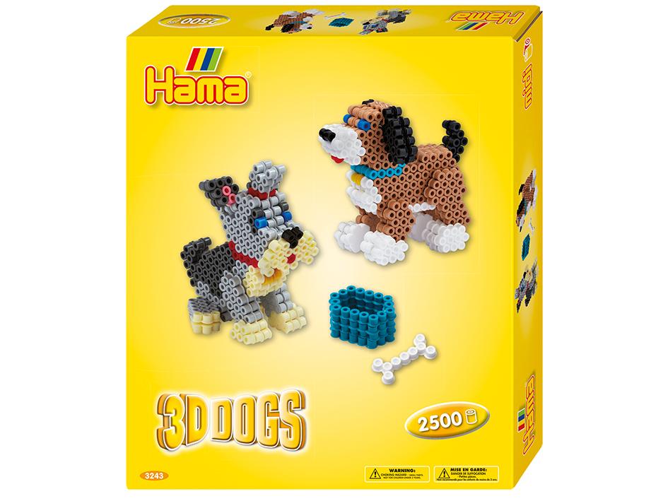 Hama Midi gavesett med 3D Hunder