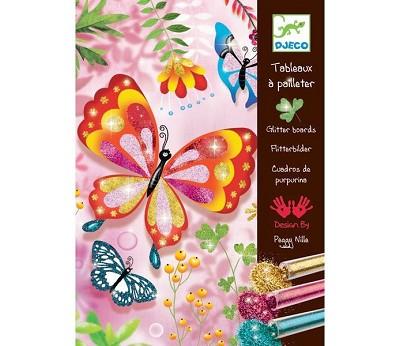 Fargelegg sommerfugler med glitter - Djeco
