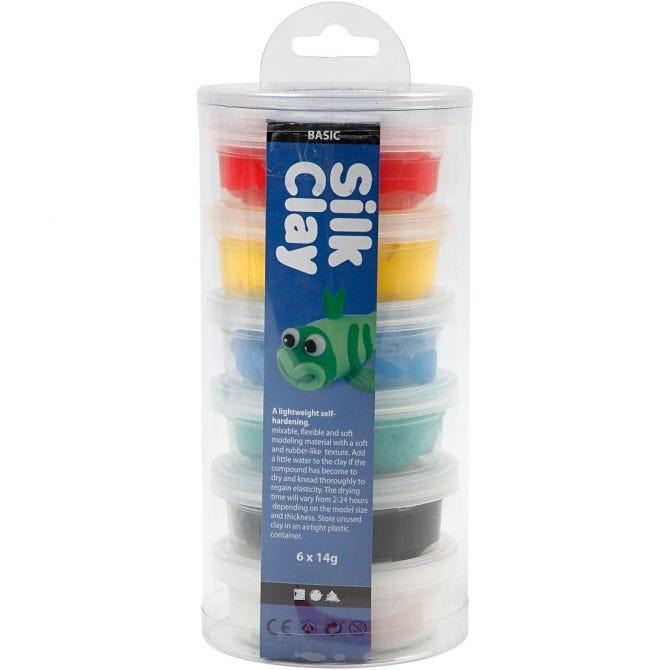 Silk Clay Basic farger, 14 G, 6 bokser