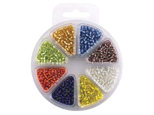 Perlesett – Glassperler flere farger