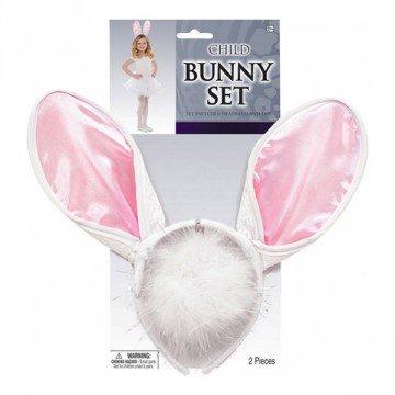 Kanin-sett med ører og hale