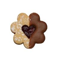 Blomst med hjerte i midten, Pepperkakeform, kakeutstikker