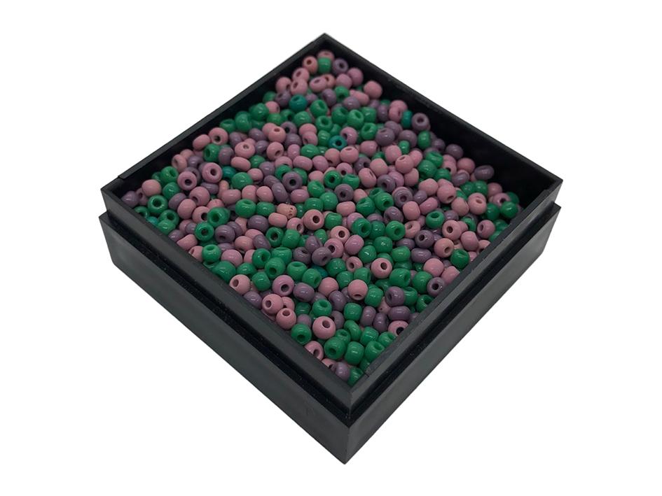 Glassperler - Mix med lilla og grønn