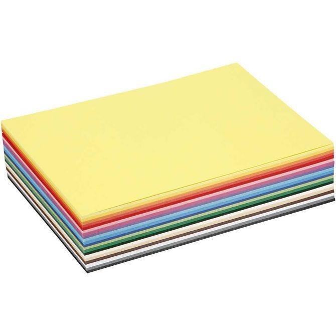 A5 Kartong, 20 forskjellige farger, 60 ark