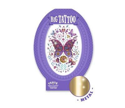 Stor tatovering med sommerfugl - Djeco