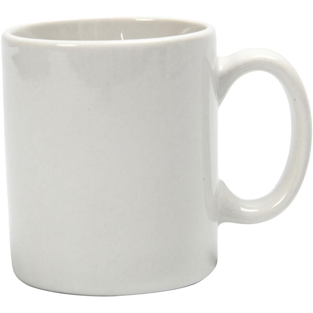 Liten kopp/Krus, H: 7 cm, 6 cm, Hvit, 1 Stk.