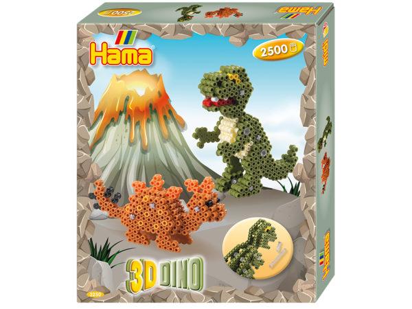 Hama Midi gavesett med 3D Dinosaurer
