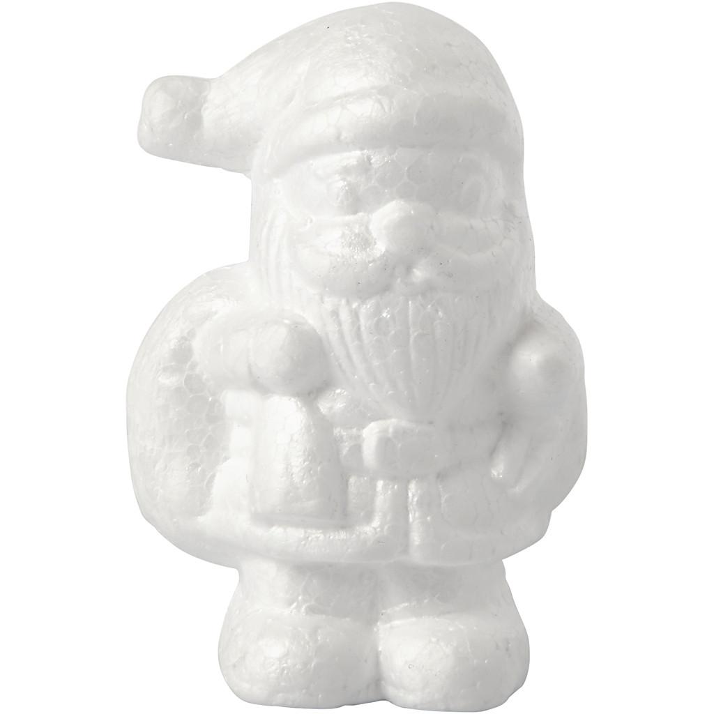 Julenisse, H: 11 cm, Hvit, 1 Stk.