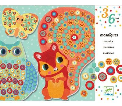 Mosaikksett med skogsdyr - Djeco