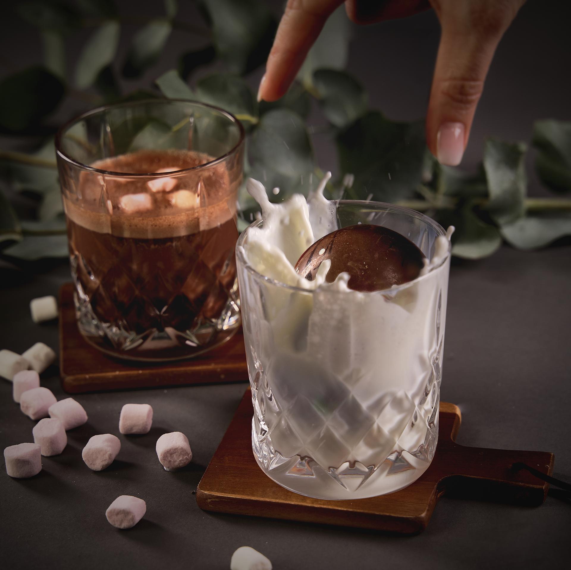 Magisk kakaobombe med melkesjokolade