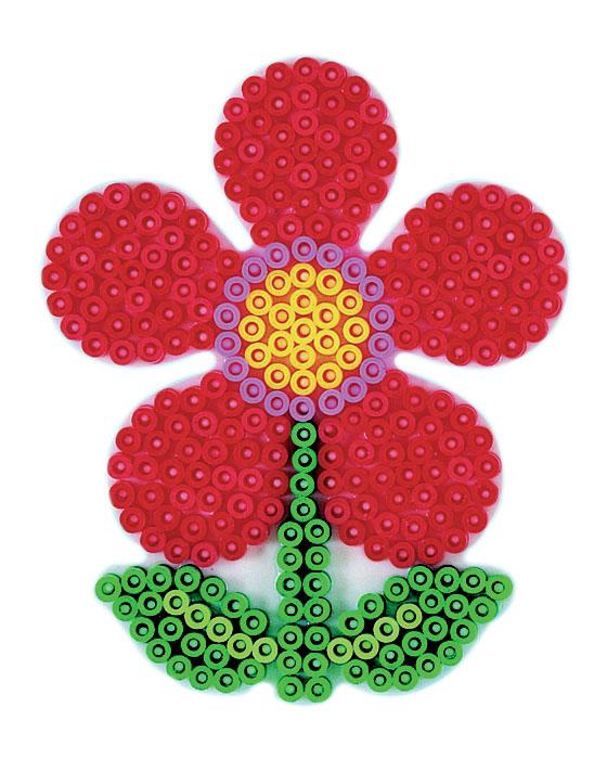 Hama Midi piggplate blomst