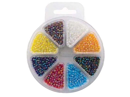 Perlesett – Glassperler regnbue