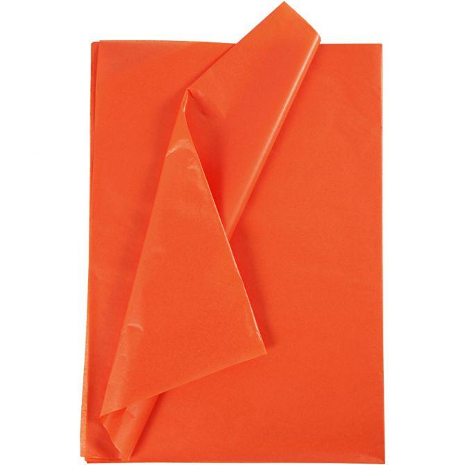 Oransje Silkepapir, 50x70 cm