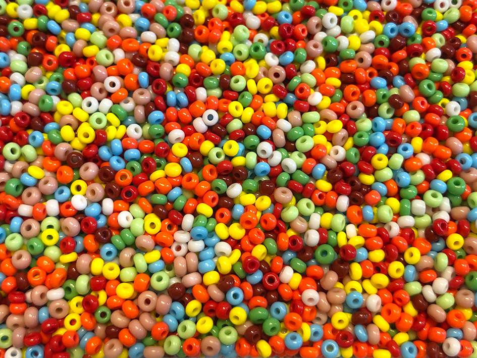 Glassperler - Mix farger