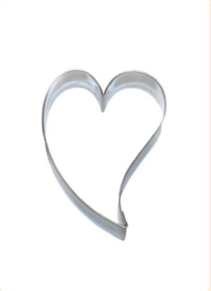 Hjerte med svai, Pepperkakeform, kakeutstikker